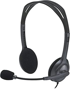 Logitech H111 Auriculares con Cable, Sonido Estéreo con Micrófono ...