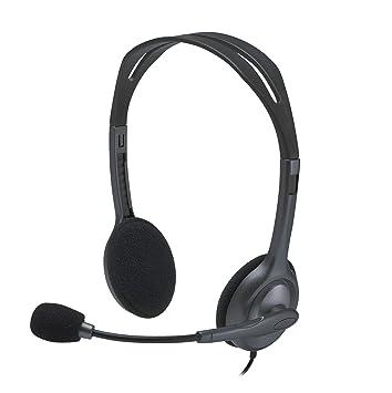 Logitech H111 - Auriculares estéreo, color gris