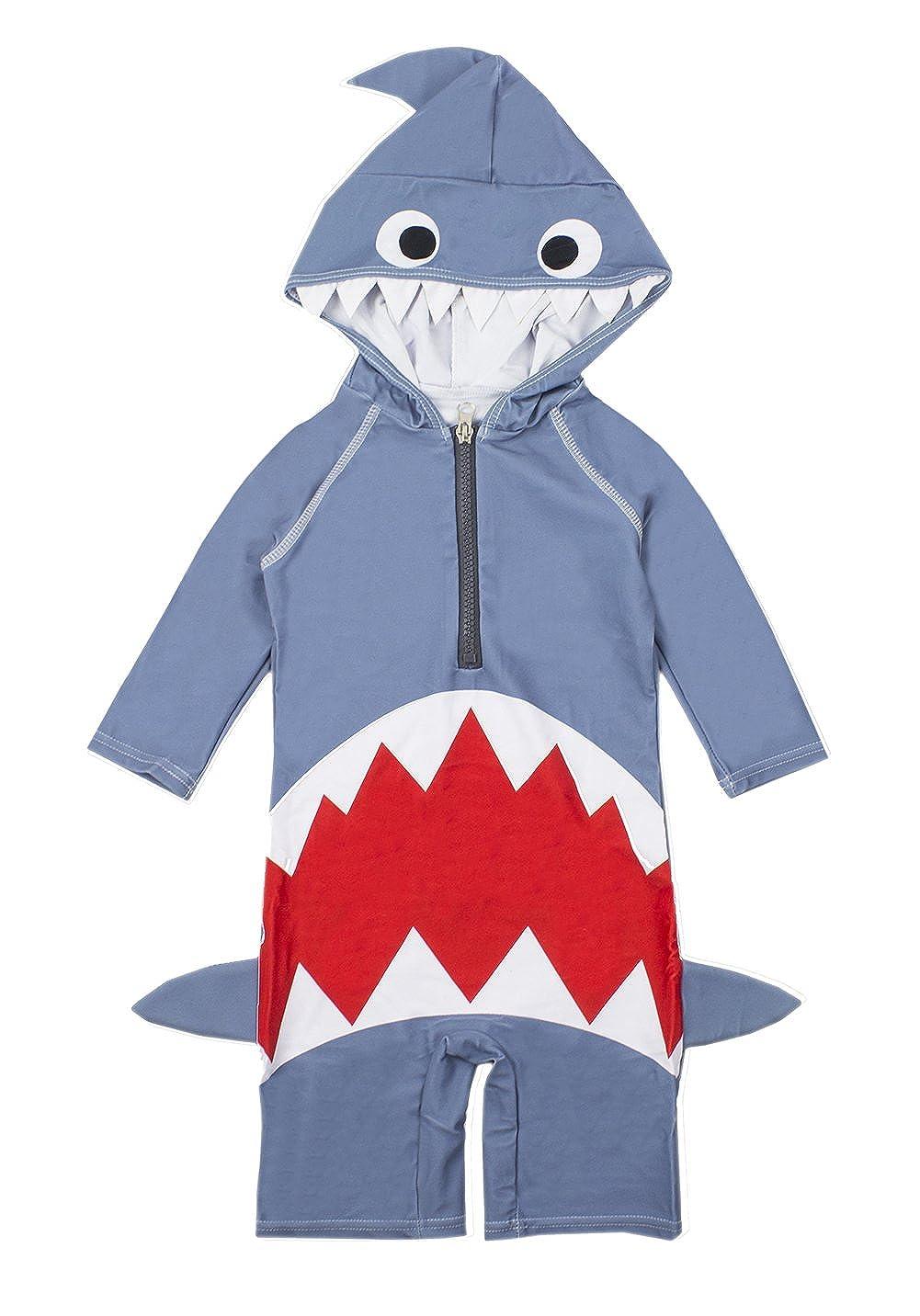 TiaoBug Kids Boys Girls Rash Guard Shark Swimsuit Swimwear One-Piece Swim Jumpsuit 3//4 Sleeves UPF 50 Diving Suits