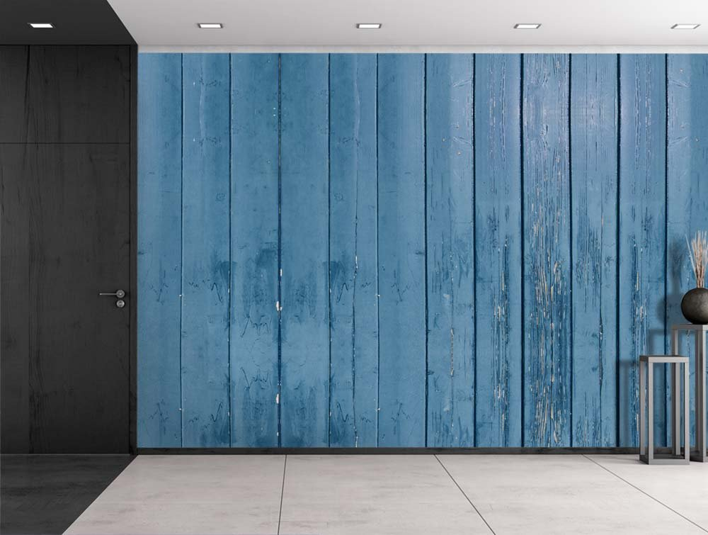 blue wooden fence panels wall mural wood fence panels door84 wood