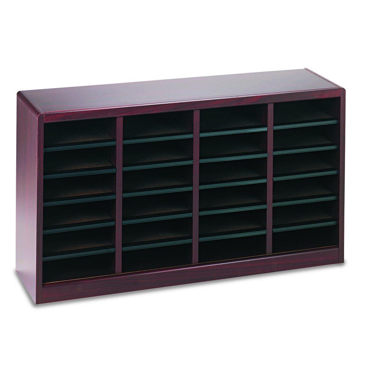 Safco Products 9311MH E-Z Stor Wood Literature Organizer, 24 Compartment, Mahogany