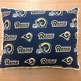Travel Memory Foam Pillow- La Rams/Beige Plush