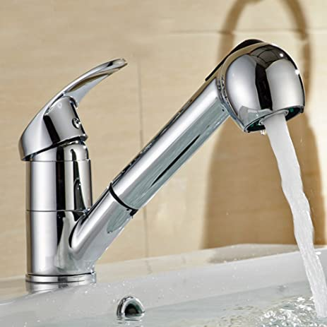 360 Retractable faucet single handle faucet stainless steel pull ...
