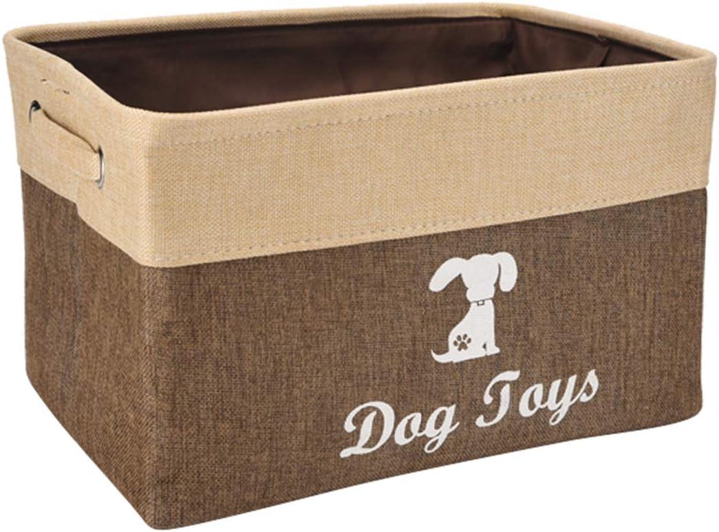 Geyecete Cesta de Almacenamiento de Lino, Ideal para organizar Juguetes de Perro, Camisas de Perro, Abrigos de Perro, Juguetes para Perros, Ropa para Perros, Vestidos para Perros, cestas de Regalo