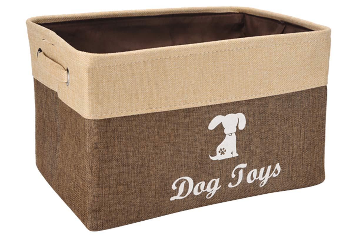 Dog Shirts Dog Clothing-Gray Dog Toys Dog Coats Xbopetda Linen Dog Storage Basket Bin Chest Organizer Perfect for Organizing Dog Toys Storage