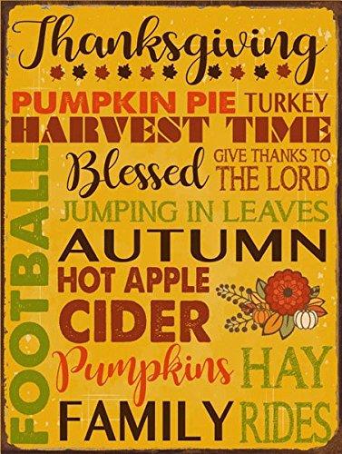 Thanksgiving Subway Metal Sign, Autumn, Kitchen Décor, Thanksgiving, Fall, Harvest