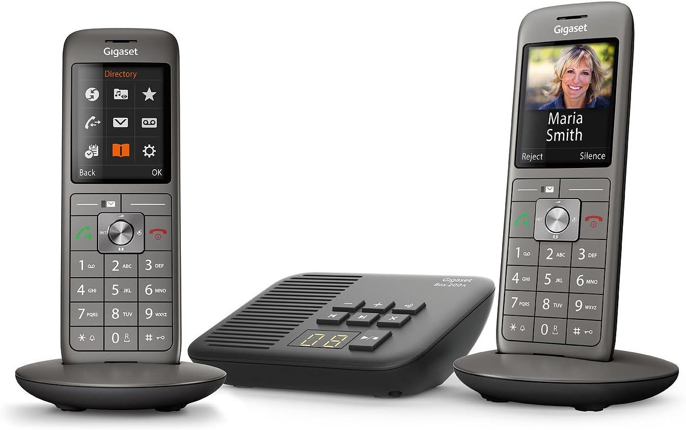 Gigaset CL660A Duo Analog/DECT telephone Identificador de llamadas Gris: Amazon.es: Electrónica