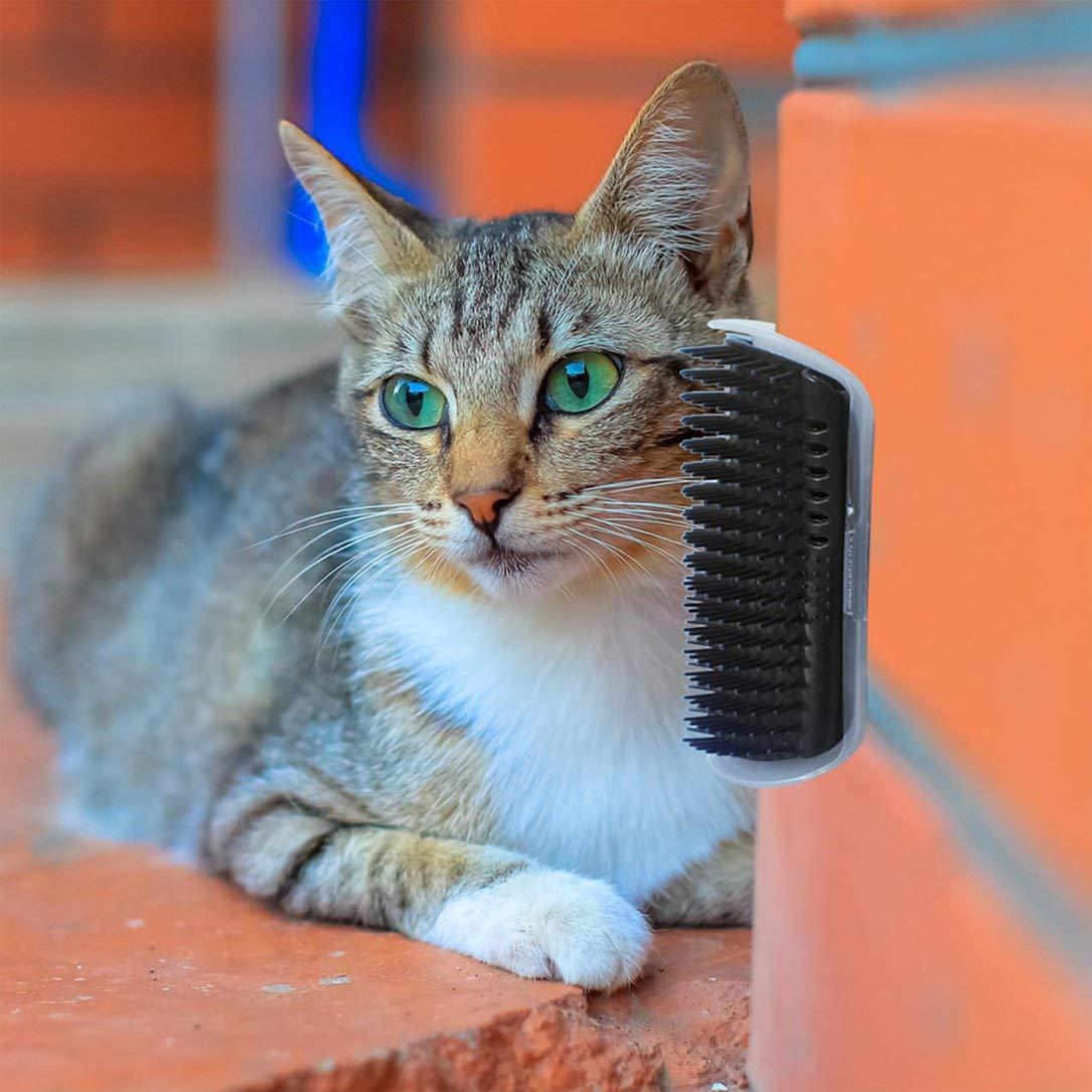Monllack Cats Self Groomer Brush Pet Massage Device Universal Hair Removal Brush Durable Pet Wall Corner Grooming Tool