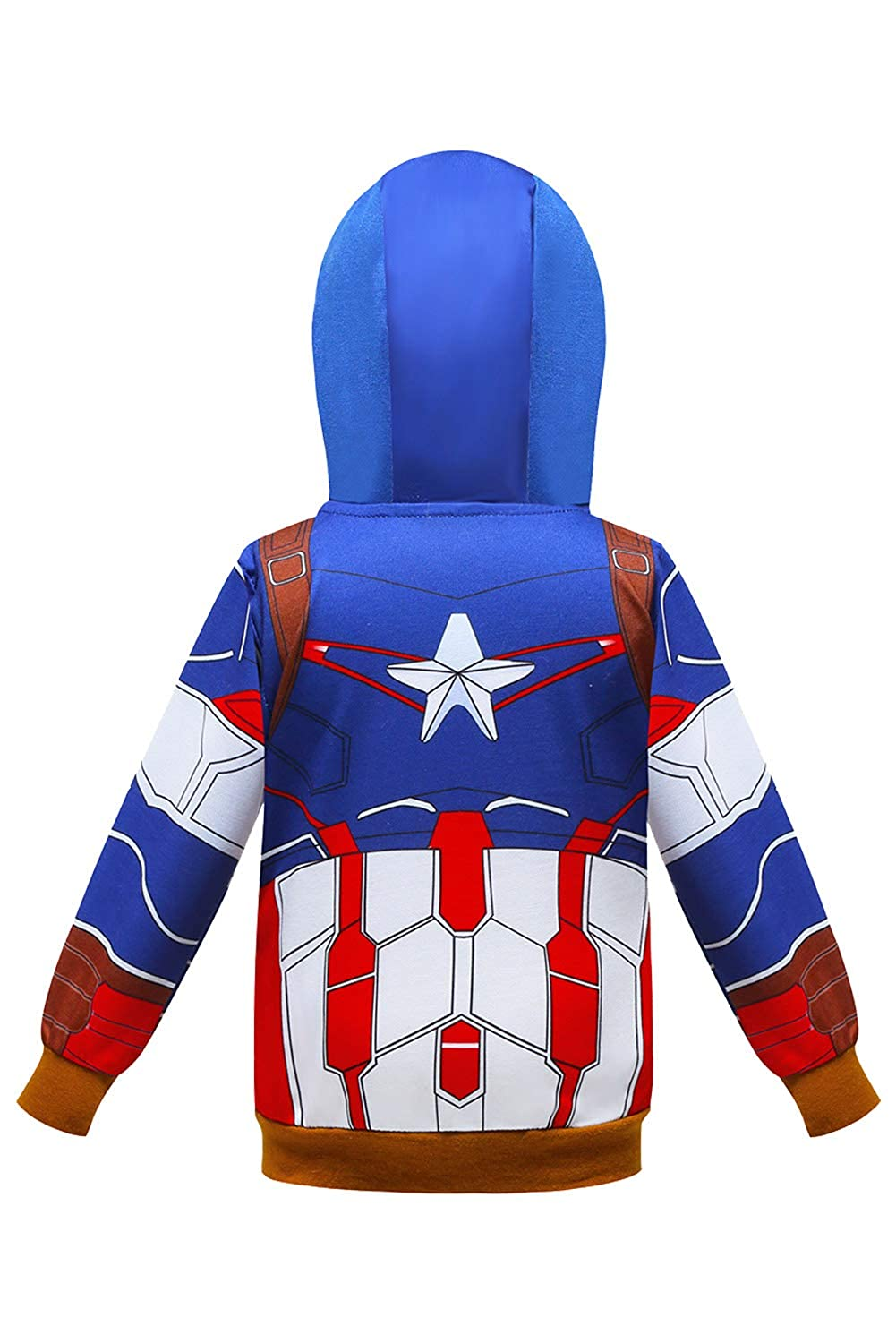 Mutrade Womens Captain Printed Jacket Cosplay Costume Fashion Zipper Hooded Sweatshirt