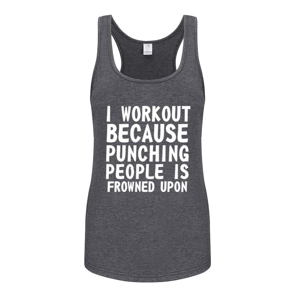 Fannoo Muscle Tank Tops for Women-Womens Funny Saying Fitness Workout Racerback Tank Tops Sleeveless Shirts