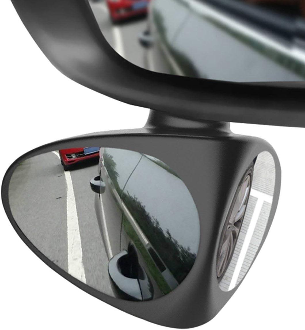 Logicstring Auto Blind Spot Spiegel Weitwinkelspiegel 360 Umdrehung Einstellbar Konvex R/ückspiegel Ansicht Vorderrad Autospiegel