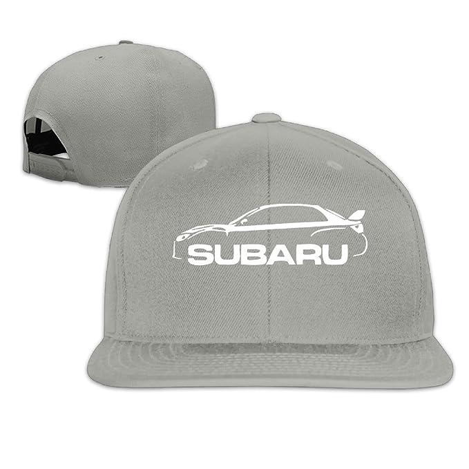 Subaru Imprezza WRX STI Flat Brim Unisex Snapback Cap Sports Hats ... c1d0d1b75bb