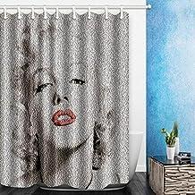 Digital Printing Marilyn Monroe Shower Curtain Waterproof Polyester Mildew Resistant Bathroom Curtain 180CMx180CM