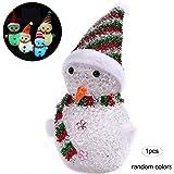 3715d55c521 Muñeco de Nieve de los muñecos de Nieve de Navidad LED Brilla decoración de  Santa Claus