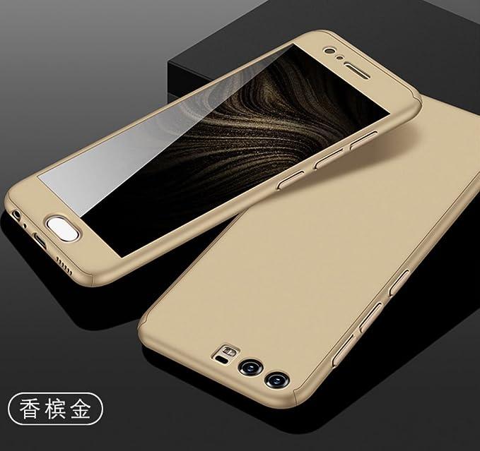 Huawei P9 Plus Armor Funda, 360° Full Edge Combined Awesome Ultra Hybrid Carcasa With Glass, TAITOU Cool Ultralight Slim Anti Scratch Phone Funda For ...