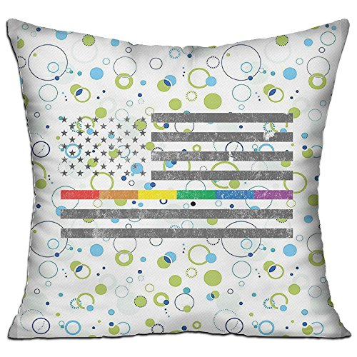 Kmart Throw (Mokjeiij American Pride Flag Thanksgiving Pillow Cover Sofa Bed Decoration Square Cushion 1818.)