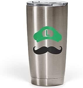 ممتص الصدمات فضي فضي فضي من Mustache يحمل شخصية سوبر ماريو فضة من الفولاذ المقاوم للصدأ مع غطاء أكريليك شفاف