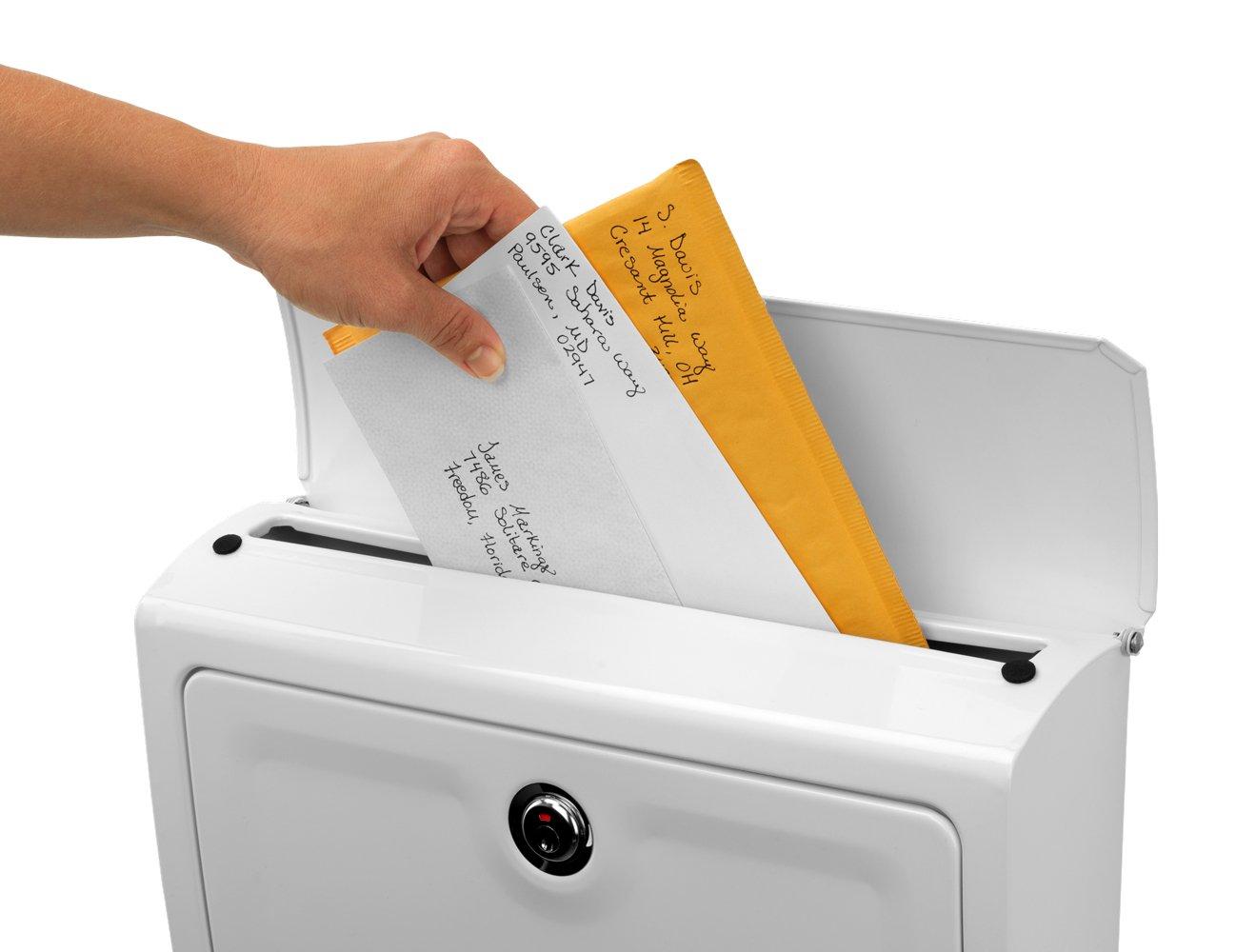 Cassetta delle lettere fissaggio a parete colore: Bianco Architectural Mailboxes Aspen