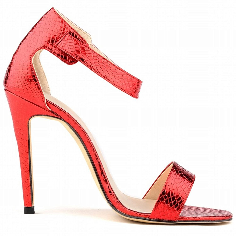DULEE Damen und Dame Stiletto High Heel Sandalen, Pink 41