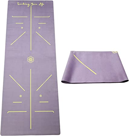 Lightweight Fitness Exercise Mat Floor Exercises Non-Slip Workout Mat for Yoga Pilates Foldable washable 1//16 Inch Thin GOLDEN/® Travel Yoga Mat Microfiber Sweat Absorbent
