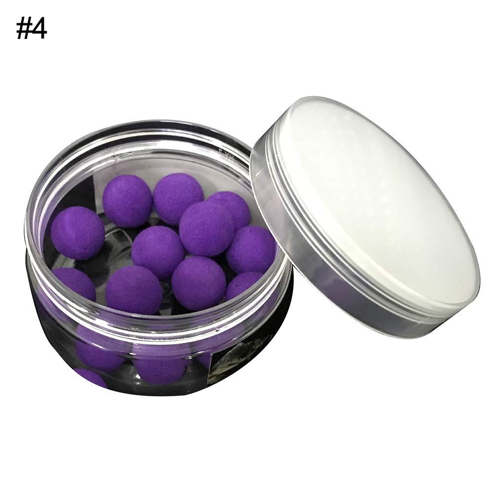SEGRJ App/ât de p/êche /à la Carpe 8//10//12//14 mm en Forme de Boules en PVA Bouillettes flottantes App/ât Artificiel Violet 14 mm