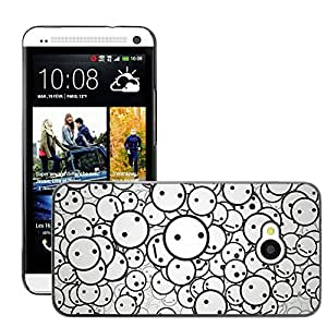 Super Stellar Slim PC Hard Case Cover Skin Armor Shell Protection // M00050140 smiles vector art aero // HTC ONE M7