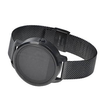 Relojes inteligentes Reloj suizos Reloj inteligente Salud, música Bluetooth, cámara remota, viene con reloj podómetro Para Android IOS Smartphones (negro): ...