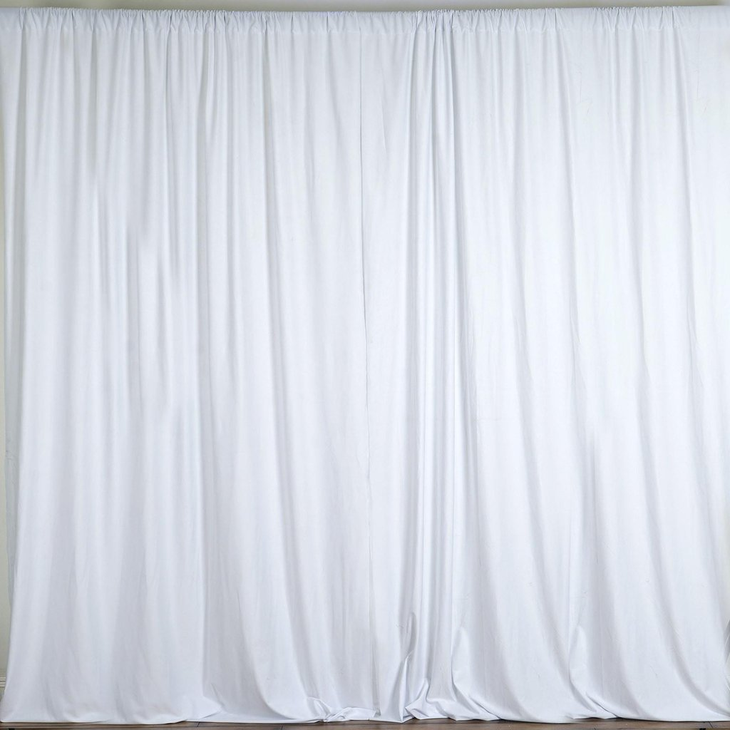 lovemyfabric 100% Polyester Window Curtain/Stage Backdrop Curtain/Photography Backdrop 58'' Inch X 108'' Inch (1, White)