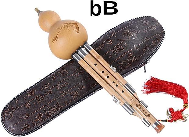 GYKFY Bambú Hulusi Calabaza Flauta China Tradicional Hecha a Mano Artesanal de Instrumentos Musicales con la Caja,Bbkey: Amazon.es: Hogar