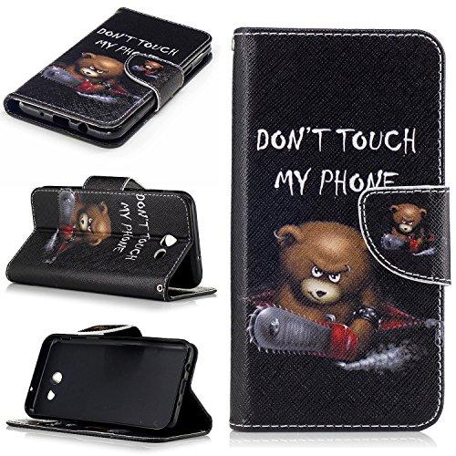 Luna Marble (Samsung Galaxy J3 Emerge/J3 2017/J3 Prime/J3 Mission/J3 Eclipse/J3 Luna Pro/Sol 2/Amp Prime 2/Express Prime 2 Case, UZER Premium PU Leather with Card Holder ID/Money Slots Wallet Case)