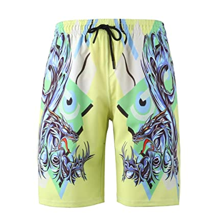 2ce90fbbd0 Amazon.com: Easytoy Mens 3D Printed Funny Swim Trunks Quick Dry Beachwear  Sports Running Swim Board Shorts Mesh Lining: Arts, Crafts & Sewing