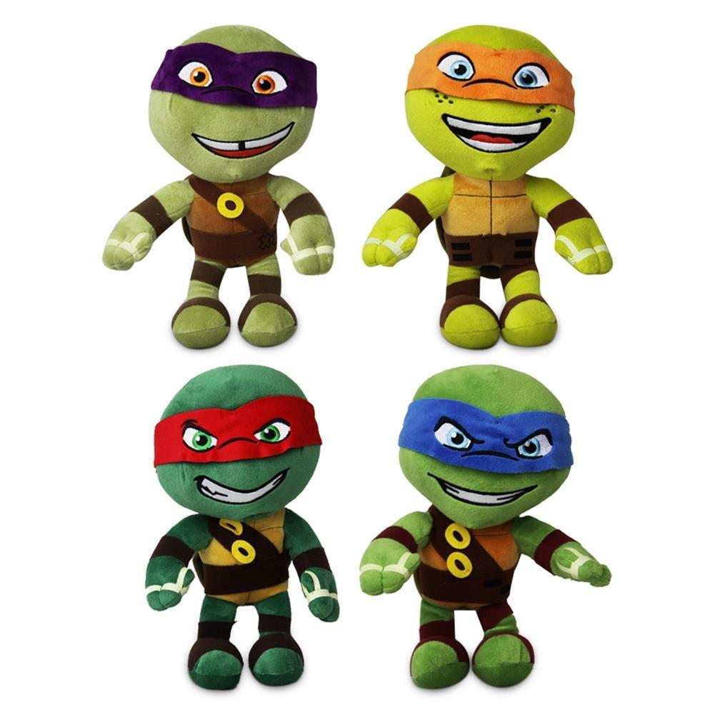 4 x peluche tortue Ninja Turtle Leonardo Michelangelo ...