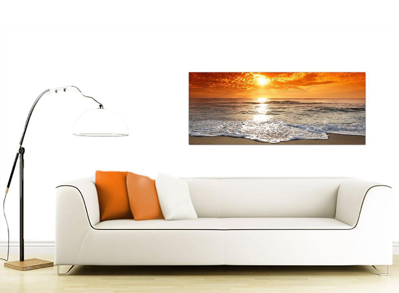 cheap canvas pictures of a tropical beach sunset for your bedroom  - cheap canvas pictures of a tropical beach sunset for your bedroom panoramic seaside wall art    wallfillers® amazoncouk kitchen home