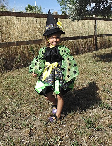 Girls 4T Little Witch in Green by Fru Fru and Feathers Costumes & Gifts