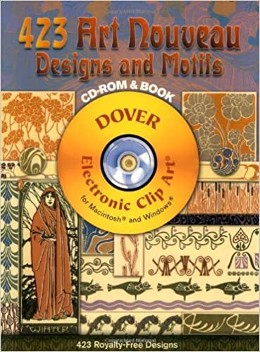 Book 423 Art Nouveau Designs and Motifs (Dover Electronic Clip Art)