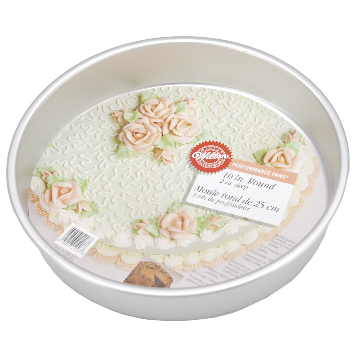 Wilton 2105-2207 Performance Aluminum Cake, 10-Inch PERF PAN 10X2 ROUND,