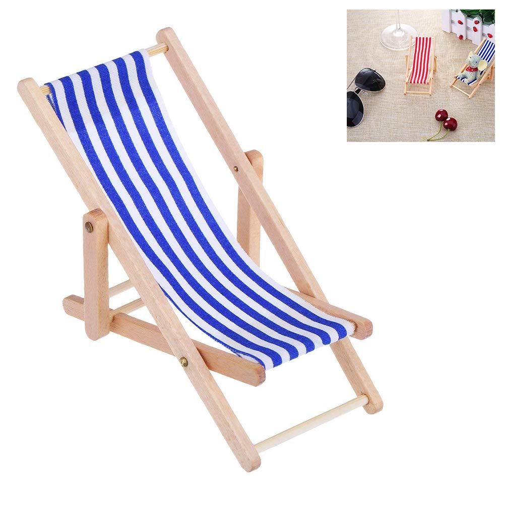 per casa delle Bambole Sedia a Sdraio da Spiaggia Surenhap 1:12 Accessori da Giardino Verde