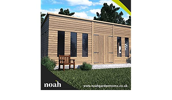 Cabaña de 12 x 8 de construcción reforzada. Caseta de madera para jardín/ taller/lugar de descanso: Amazon.es: Jardín