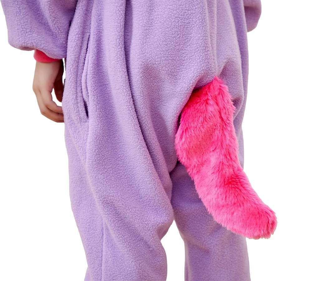 Kids Unisex Animal Pajamas One Piece Anime Onesie Unicorn Costumes Homewear Purple 2-4 by Mybei (Image #6)