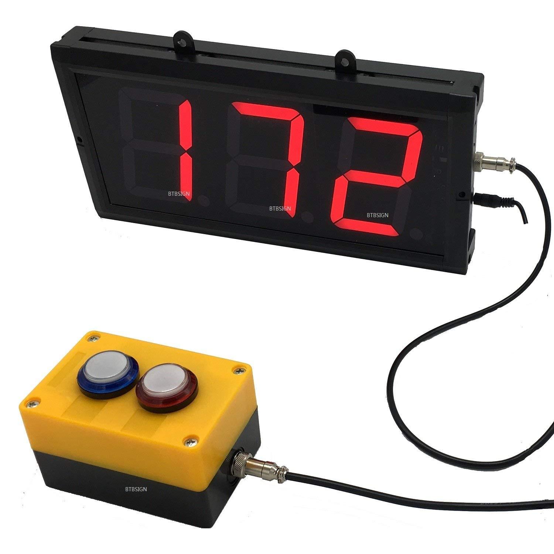 BTBSIGN アップLED/ダウン カウンタスイッチ ボックス&リモートレッド 4  3桁LED ディスプレイ付 3数   B078W9VJ32
