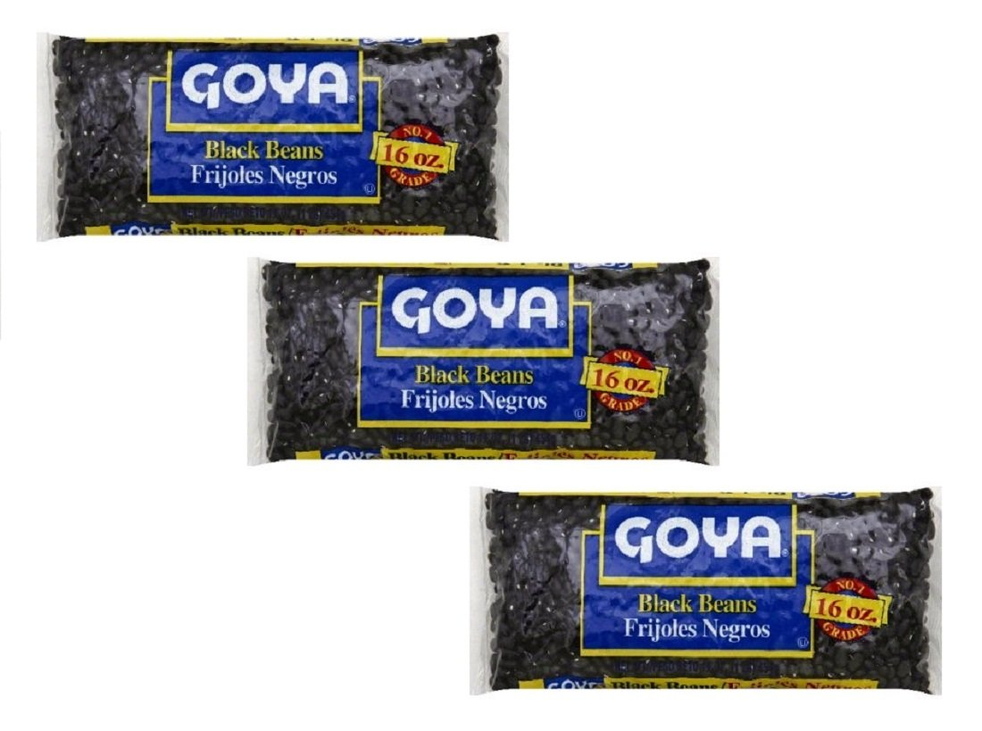 Goya No. 1 Grade Black Beans, 16 oz Bag (Pack of 3)