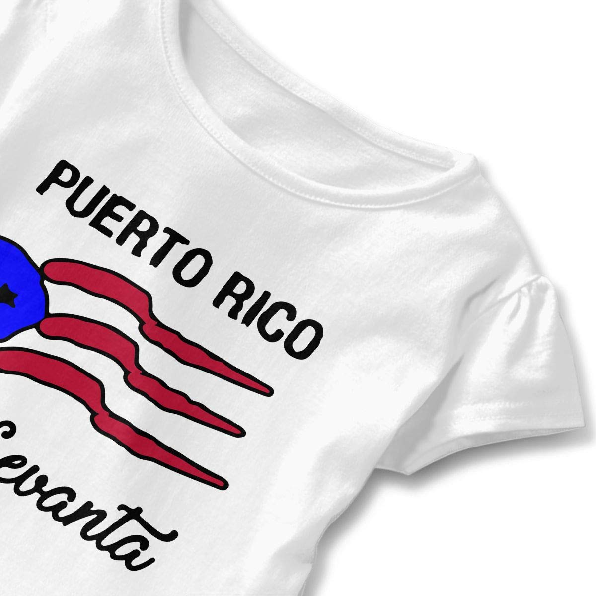 2-6 Years Vfbggg-Shirt Puerto Rican Flag Baby Girls Short Sleeve Ruffle Tee Cotton Kids T Shirts