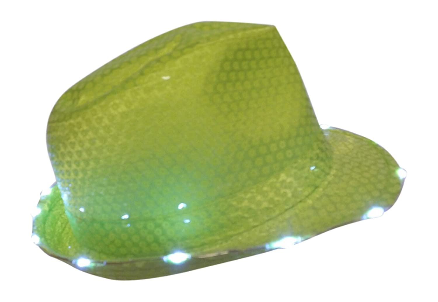 c9236992b8abb Amazon.com  Light Up Led Neon Sequin Like Lime Green Fedora Hat  Kitchen    Dining