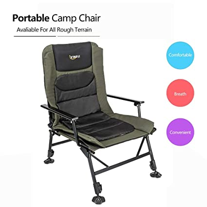 Fine Vingli Professional Fishing Chair Foldable 1800 Adjustable Reclining Mesh Padded Back Outdoor Camping Picnic Hiking Beach Portable Chair Stool Beatyapartments Chair Design Images Beatyapartmentscom