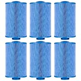 Clear Choice CCP432 Pool Spa Replacement Cartridge Filter for Master Spa Twilight Filter Media, 6'' Dia x 9-1/4'' Long, [6-Pack]