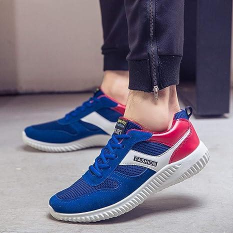 ❤ Zapatillas de Deporte para Hombres, Letter Mesh Transpirable Sport Running Flat Round Toe Calzado Deportivo Casual Zapatillas de Deporte Absolute: ...