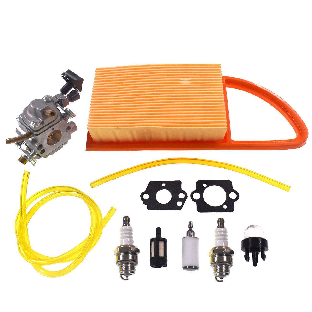 FidgetKute Carburetor Spark Plug & Gasket to Fit Stihl BR500 BR550 BR600 C1Q-S183 Carb by FidgetKute