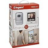 Legrand, videodatorsystem med 2-trådskontakt, 10 cm färgskärm och vidvinkelkamera, 1/2-familjebusset, 369110