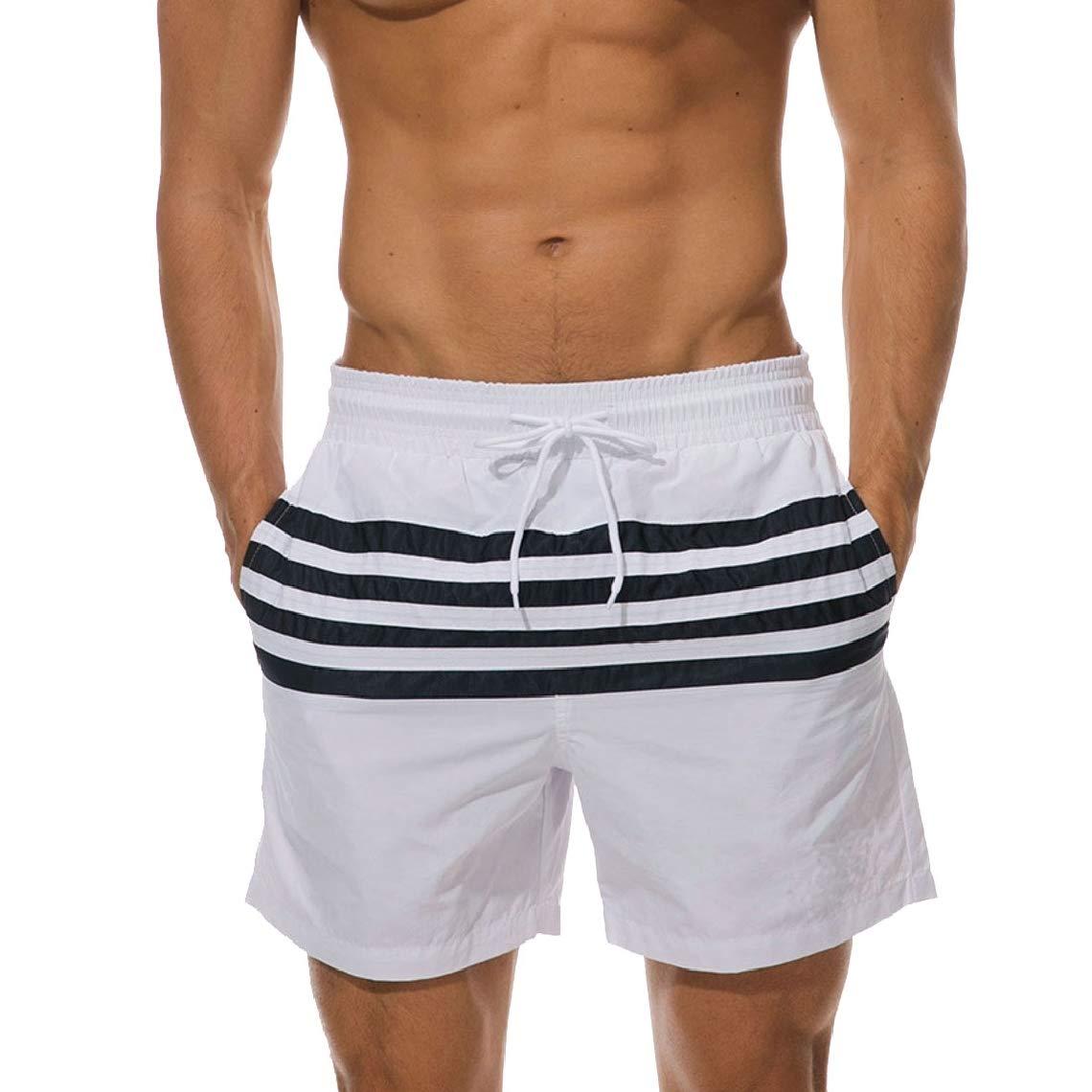Mens Swim Fast Dry Casual Trunks Quick Beachwear Boardshorts
