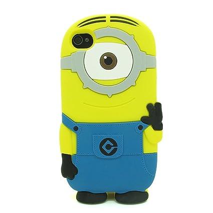 Amazon.com: JBG One Eye iphone 4/4S Lovely 3D Cartoon ...